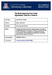 The North American Free Trade Agreement: Time for a Trade In