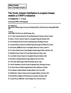 The North Atlantic Oscillation in coupled climate models: a CMIP1 evaluation