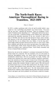 The North-South Races: American Thoroughbred Racing in Transition,