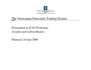 The Norwegian Emissions Trading System