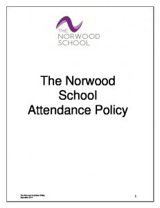 The Norwood School Attendance Policy
