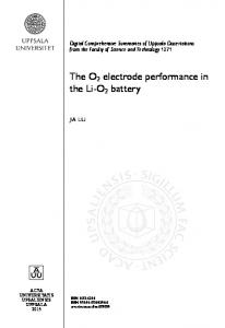 The O 2 electrode performance in the Li-O 2 battery