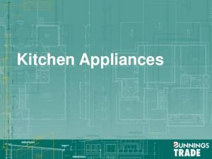 The Offer Complete kitchen appliance solution offering: