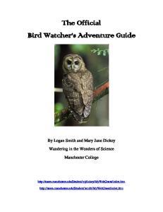 The Official Bird Watcher s Adventure Guide