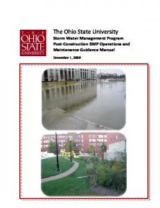 The Ohio State University Storm Water Management Program Post Construction BMP Operations and Maintenance Guidance Manual