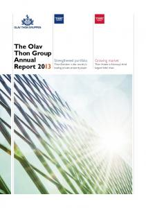 The Olav Thon Group Annual Report 2013