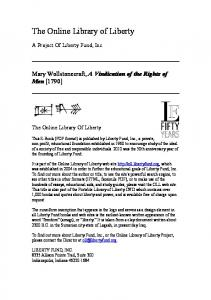 The Online Library of Liberty