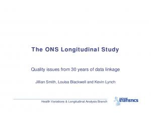 The ONS Longitudinal Study