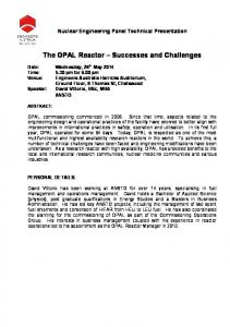 The OPAL Reactor Successes and Challenges
