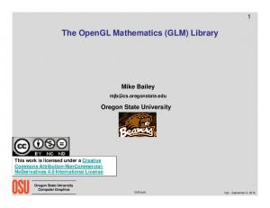 The OpenGL Mathematics (GLM) Library