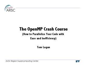 The OpenMP Crash Course