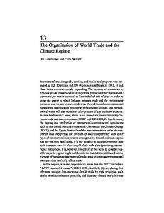 The Organization of World Trade and the Climate Regime