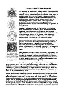 THE ORIGINS OF SACRED GEOMETRY