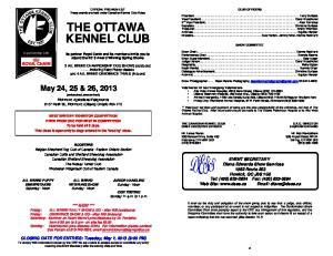 THE OTTAWA KENNEL CLUB