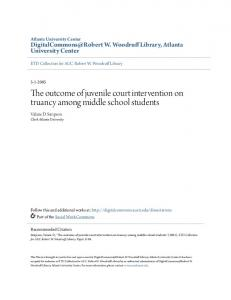 The outcome of juvenile court intervention on truancy among middle school students