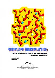 The Over Diagnosis of ADHD and the Overuse of Stimulant Medication. Bob Jacobs, Psy.D. August, 2002