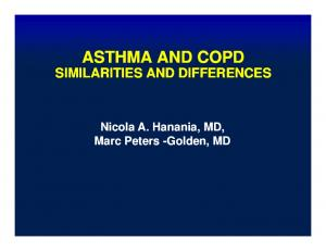 The Overlap Between Asthma and COPD