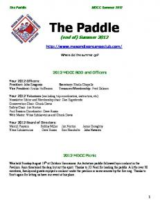 The Paddle (end of) Summer 2012