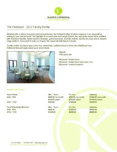 The Palladium Facility Rental