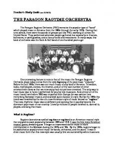 THE PARAGON RAGTIME ORCHESTRA
