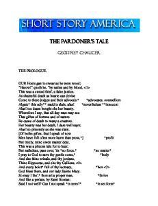 THE PARDONER'S TALE. Geoffrey Chaucer