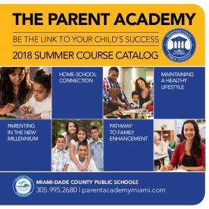 THE PARENT ACADEMY BE THE LINK TO YOUR CHILD S SUCCESS 2018 SUMMER COURSE CATALOG