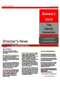 THE PARENT CONNECTION Volume 26 Issue #5