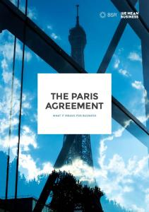 THE PARIS AGREEMENT WHAT IT MEANS FOR BUSINESS