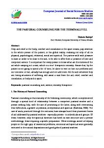 THE PASTORAL COUNSELING FOR THE TERMINALLY ILL
