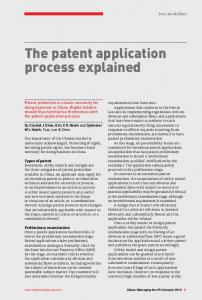 The patent application process explained