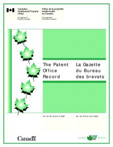 The Patent Office Record