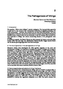 The Pathogenesis of Vitiligo