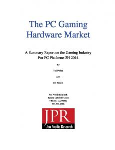 The PC Gaming Hardware Market