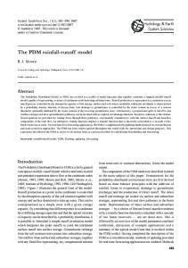 The PDM rainfall-runoff model