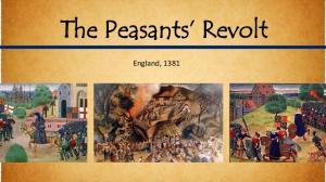 The Peasants Revolt. England, 1381