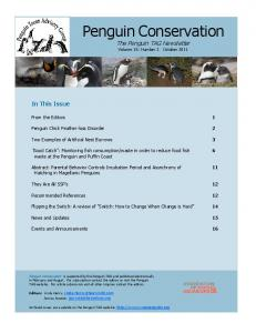 The Penguin TAG Newsletter Volume 15; Number 2 October 2011