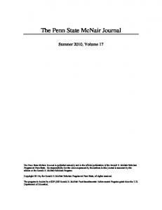 The Penn State McNair Journal