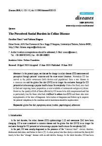 The Perceived Social Burden in Celiac Disease
