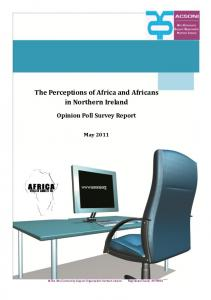 The Perceptions of Africa and Africans in Northern Ireland