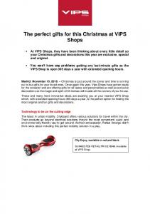 The perfect gifts for this Christmas at VIPS Shops