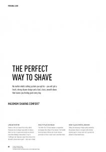 THE PERFECT WAY TO SHAVE