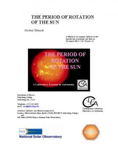 THE PERIOD OF ROTATION OF THE SUN