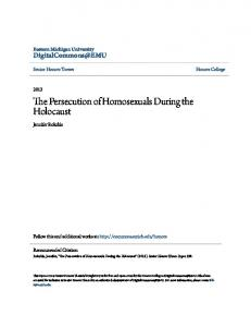The Persecution of Homosexuals During the Holocaust