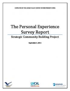 The Personal Experience Survey Report