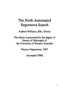The Perth Automated Supernova Search