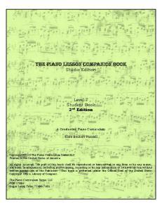 The Piano Lesson Companion Book