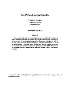 The Pill and Marital Stability