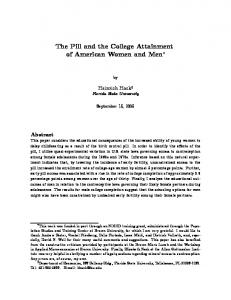 The Pill and the College Attainment of American Women and Men