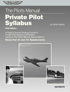 The Pilot s Manual Private Pilot Syllabus
