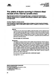 The pitfalls of duplex scanning in bilateral distal stenosis of the internal carotid artery